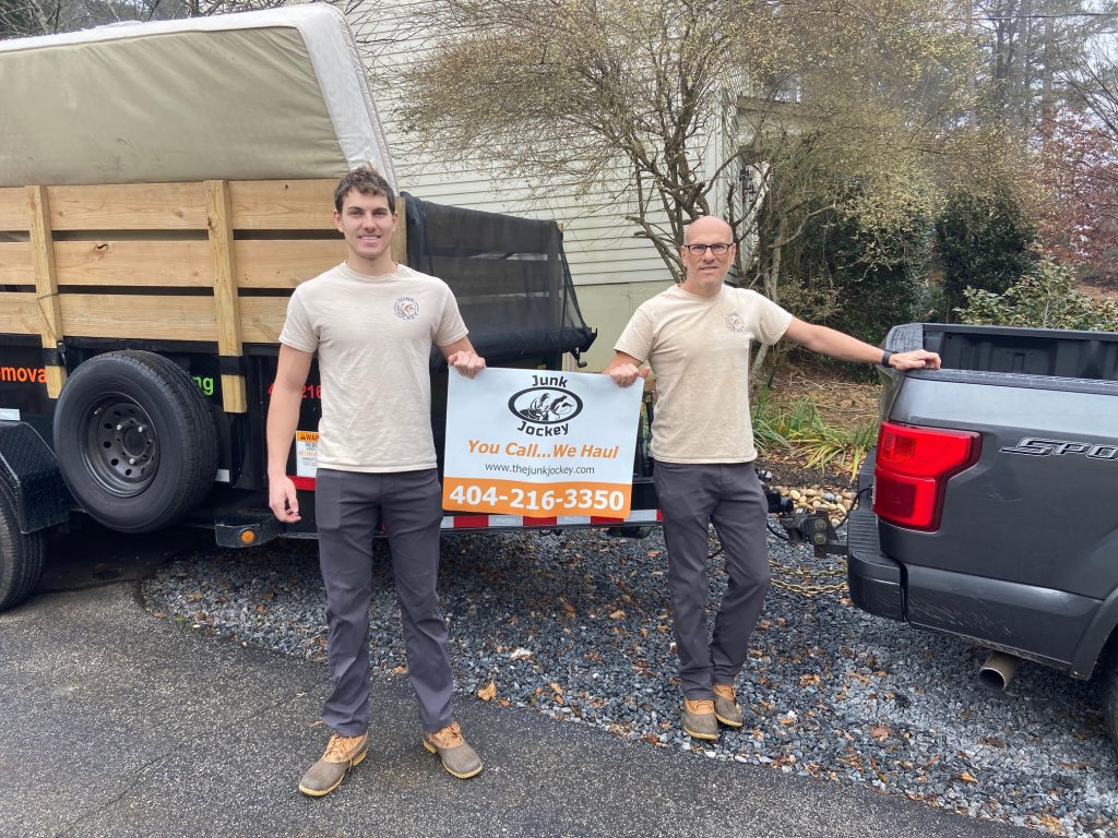 Father and son junk removal team