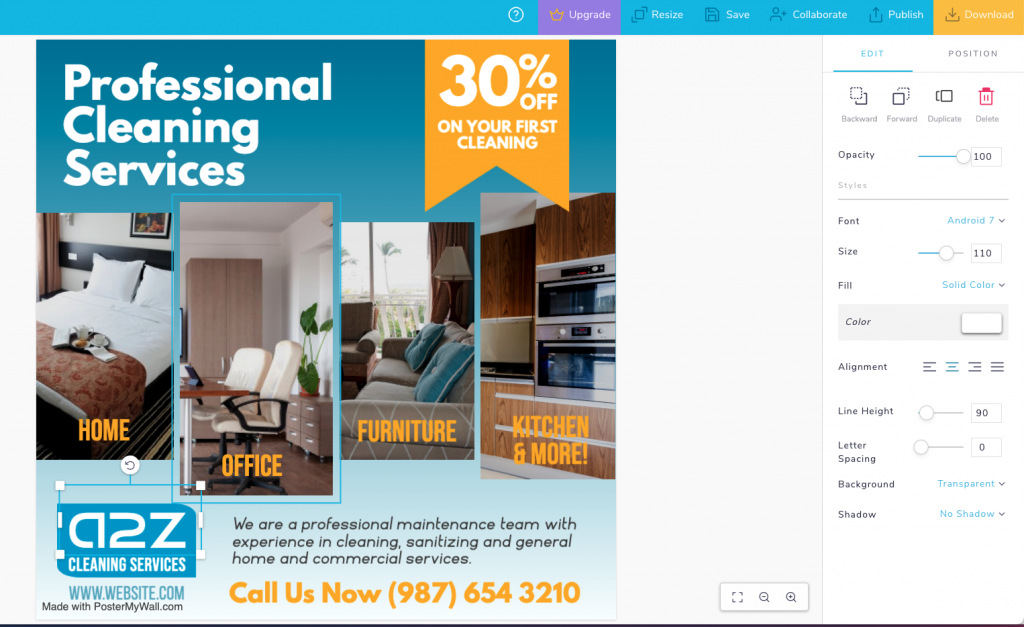 cleaning services flyer template - Workiz